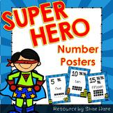 Super Hero Number Posters {Math} Ten Frames {Number Concep