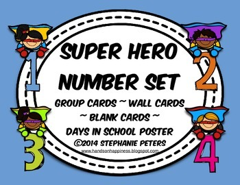 Super Hero Number Set