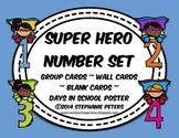 Super Hero Number Set