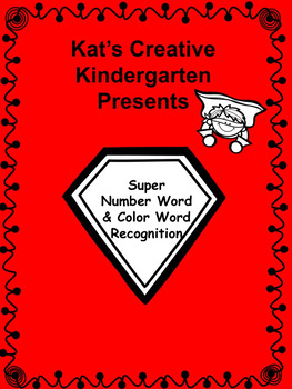 Super Hero Number and Color Words