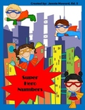 Super Hero Numbers Fill In
