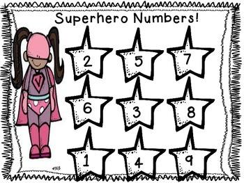 Super Hero One to One Correspondence