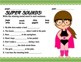 Super Hero Onomatopoeia Writing