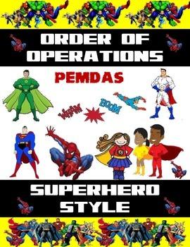 Superhero Order of Operations
