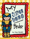 Super Hero Organizational Binder Sets (Male and Female Super Heroes)