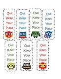 Super Hero Owl Bookmarks