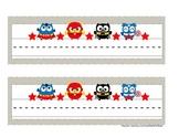 Super Hero Owl Desk Name Tags