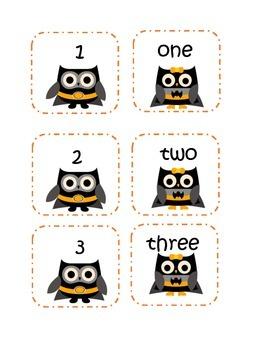Super Hero Owl Number Matching Game