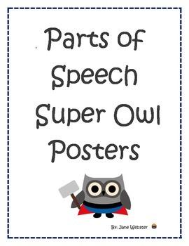 Super Hero Owl Parts of Speech