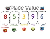 Super Hero Owl Place Value Poster