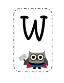 Super Hero Owl Welcome Sign