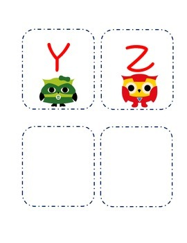 Super Hero Owl Word Wall Header and Alphabet Cards