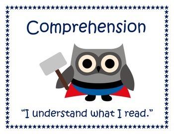 Super Hero Owls CAFE Comprehension Posters