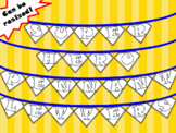 Super Hero Pennant Letters - Includes Letters, Numbers and