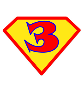 Super Hero Pennant Letters - Includes Letters, Numbers and a Blank in Color