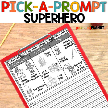 Superhero Writing Prompts!  Perfect for Writer's Workshop and Writing Centers
