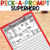 Picture Writing Prompts Writing Center Activity Superhero