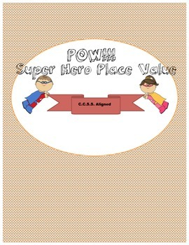 Super Hero Place Value (SUPER fun game!)
