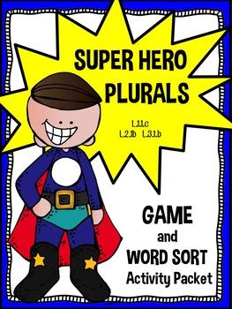 Super Hero Plural Activities