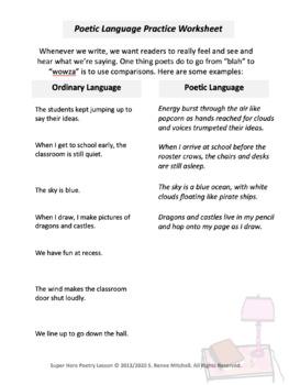 Super Hero Poetry Lesson