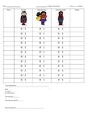 Superhero Behavior Point Sheet