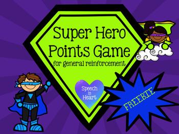 Super Hero Points Game FREEBIE
