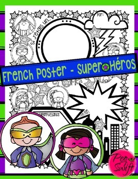 Superhero Poster ~ French ~ Super★Héros