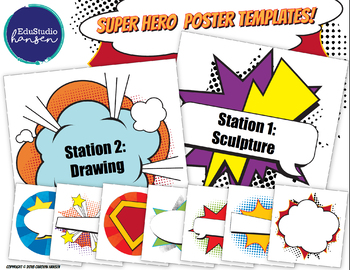 Super Hero Poster Templates