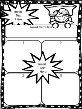 Super Hero Power Graphic Organizer & Writing {Editable}