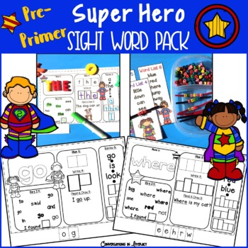 PrePrimer Sight Word Super Hero Pack