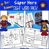 Super Hero PrePrimer Sight Word Pack