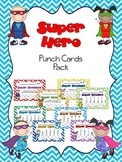 Superhero Punch Card Pack