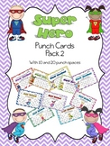 Superhero Punch Card Pack 2