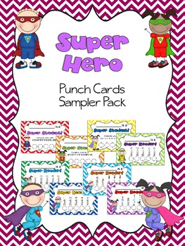 Superhero Punch Card Sampler