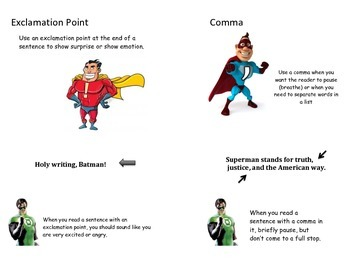 Super Hero Punctuation Book