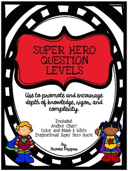 Super Hero Question Levels