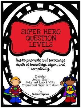 Super Hero Question Levels