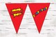 Super Hero READ Banner sign with WOW and FANTASTIC! banner signs