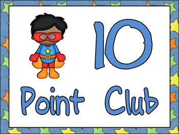 Super Hero Readers AR Points Tracking Display- Accelerated Reader