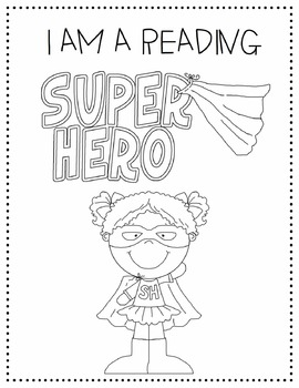 Super Hero Readers Coloring Page By Misty Rios Tpt