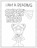 Super Hero Readers Coloring Page