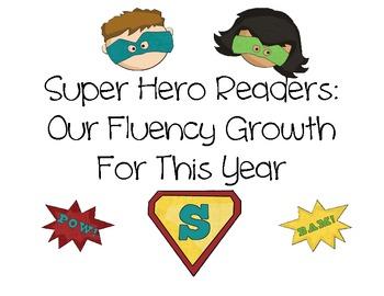 Super Hero Readers Fluency Graph Heading