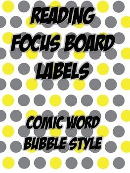 Super Hero Reading Focus Board