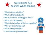Superhero Reading mini posters