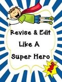 Super Hero Revise and Edit Tic Tac Toe
