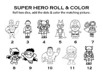 Super Hero Roll & Color