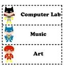 Super Hero Rotation Specials Labels