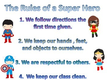 Super Hero Rules