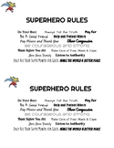 Super Hero Rules-Girl Scout Law