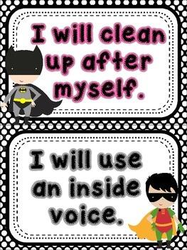Super Hero Rules *Polka Dots*